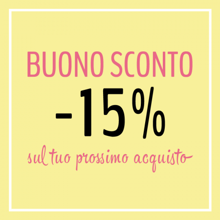 sconto -15% fidelity card quick moda